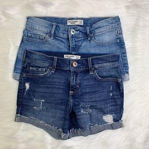 🌸2 pairs Abercrombie kids shorts 11/12